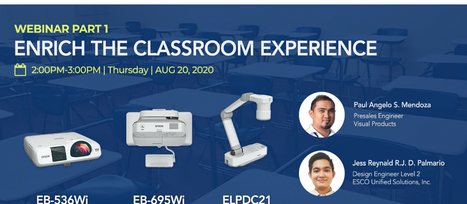 ESCO and EPSON Webinar: Enrich the Classroom Experience