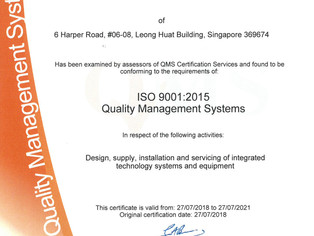 ISO 9001:2015 and OHSAS 18001:2007 certifications