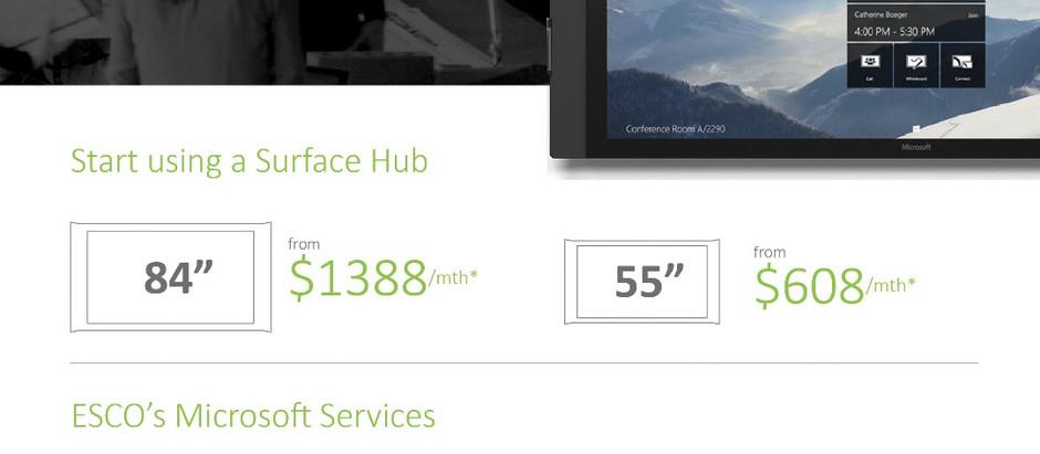 Microsoft Surface Hub as a Service