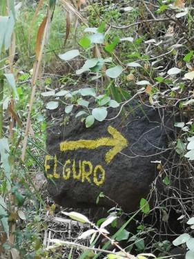 Wegweiser nach El Guro