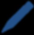 clip art blue pencil