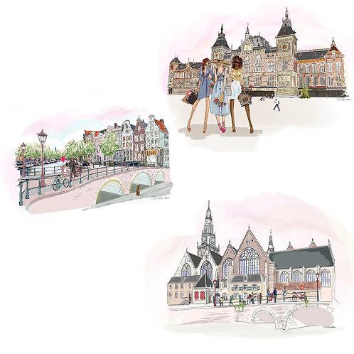 Amsterdam, (3 stuks)
