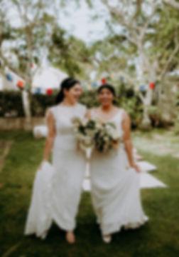 Brides at an Auckland wedding