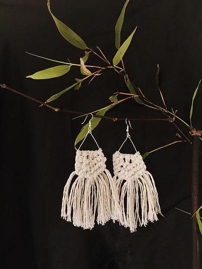 La Luna Macrame Earrings