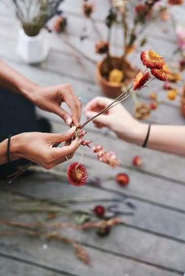 Dried flower workshop Auckland