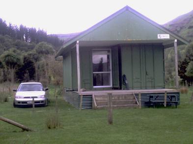 Napier Club container accommodation Lake Tutira