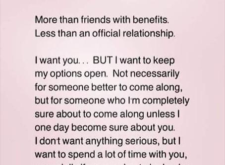 Friend w/ Benefits = Woman w/ Feelings