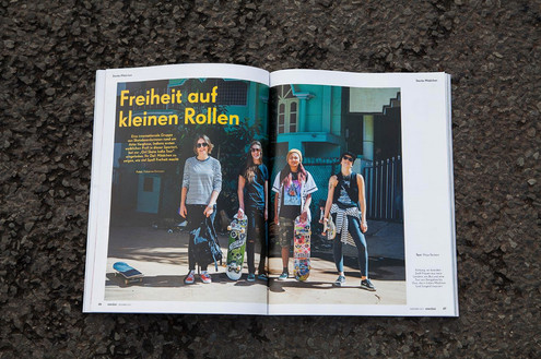 'Girl skate India' Emotion Magazin
