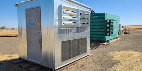 180 kW Hash Hut deployed on a remote Saskatcehwan well