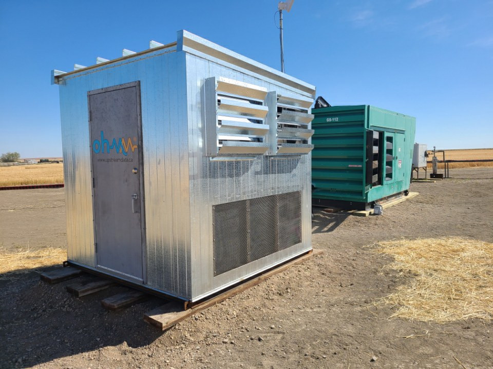 180 kW Hash Hut deployed on a remote Saskatcehwan well