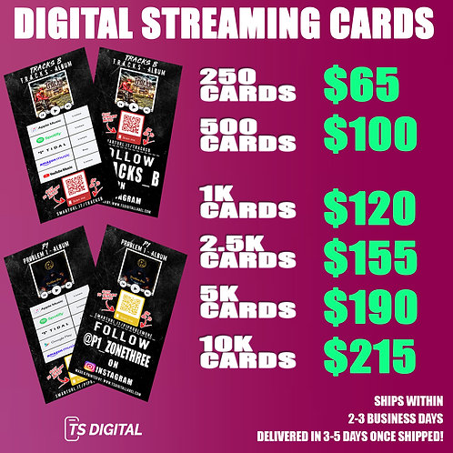 Digital Streaming Cards