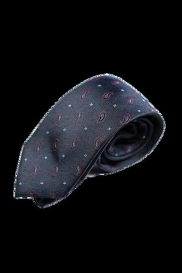 深藍佩斯利花紋領帶