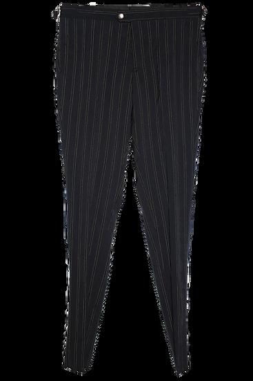 Navy Chalk Stripes Trousers