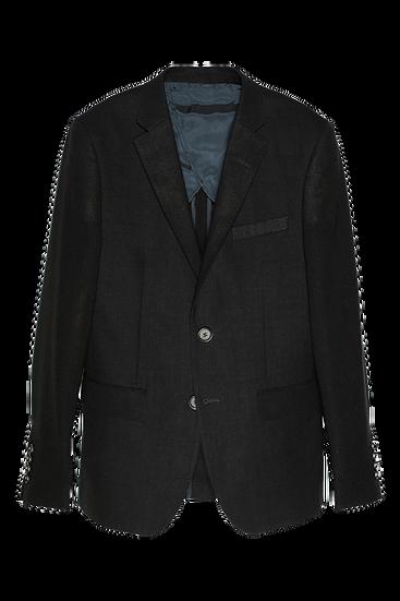 炭灰色西裝外套