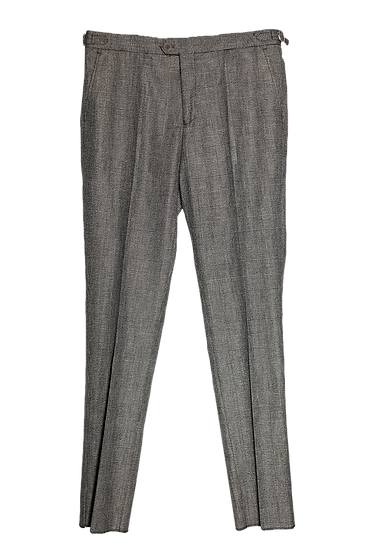 Grey Wales Check Trousers