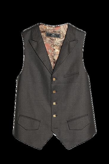 Brown Gun Club Check Waistcoat