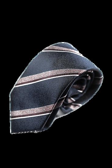 深藍斜間領帶