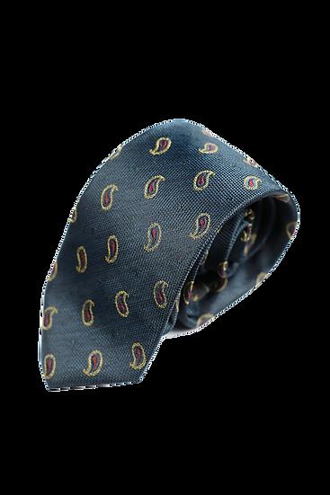 綠色佩斯利花紋領帶