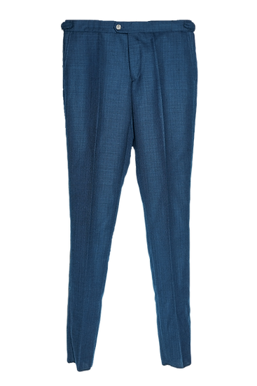 Blue Hopsack Trousers