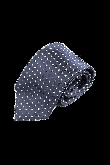 深藍圓點花紋領帶