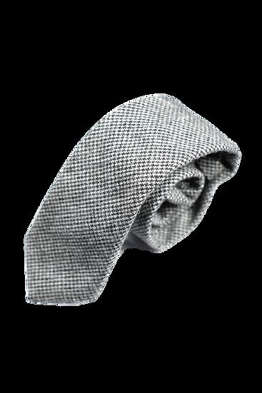 灰色千鳥格粗花呢領帶