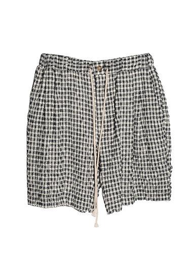 Checked Seersucker Shorts