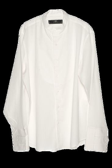 白色暗條紋恤衫