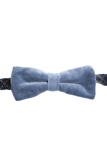 Sky Blue Velvet Bow Tie