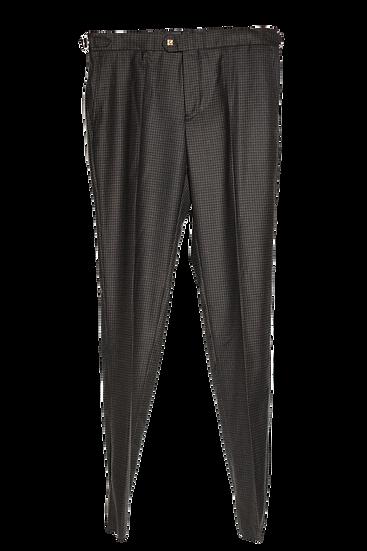 深啡三色格紋長褲