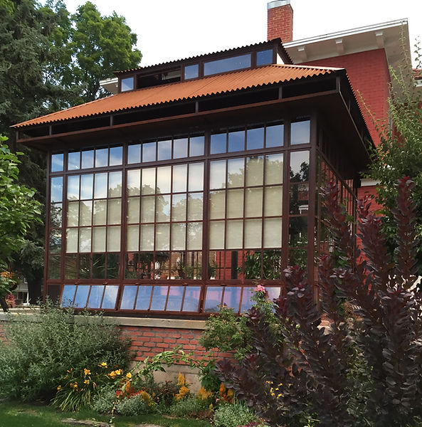 greenhouse, conservatory, tea garden, Wesley apartment building