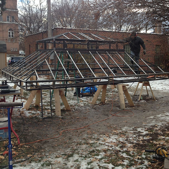 greenhouse, conservatory construction