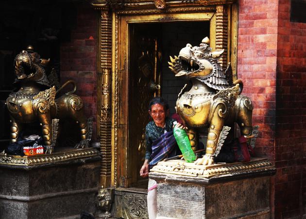 Old Woman at the Temple, Kathmandu