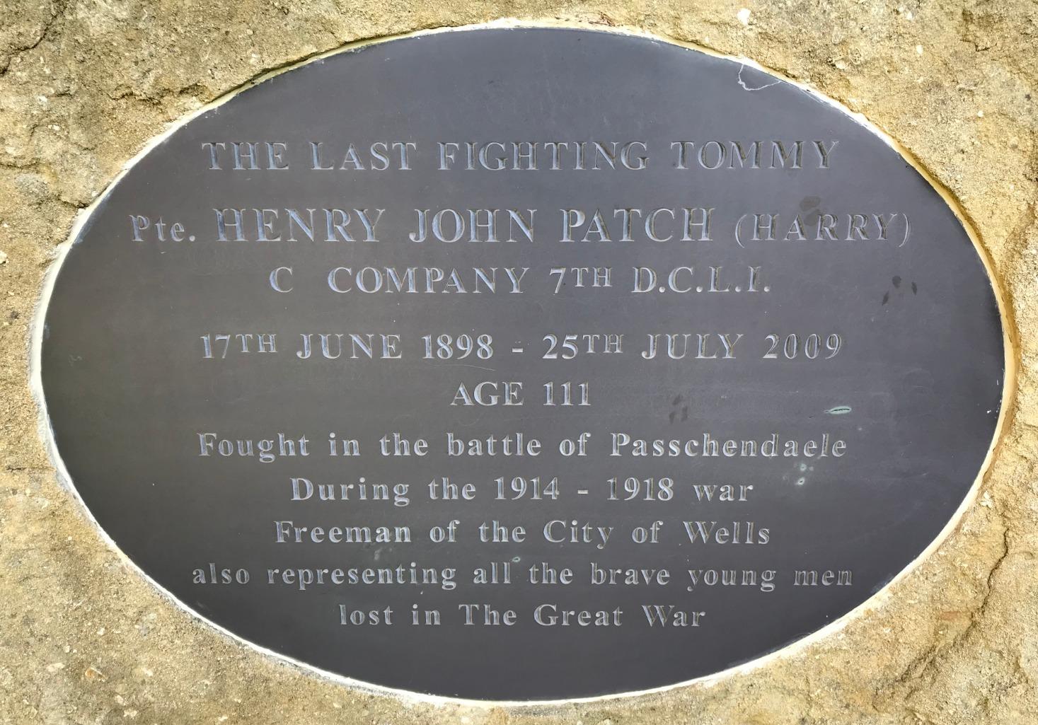 Harry Patch memorial plaque_edited