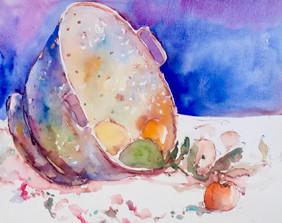 Colander and Fruit