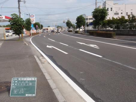 区画線工事 (車道)