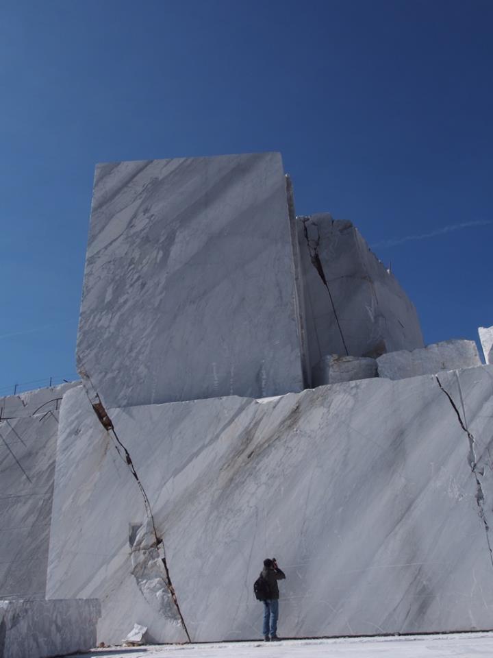 Delicate-cream-marble-quarry