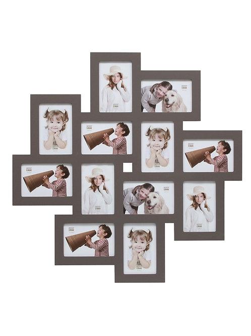 Bilderwandrahmen in taupe für 12 Bilder