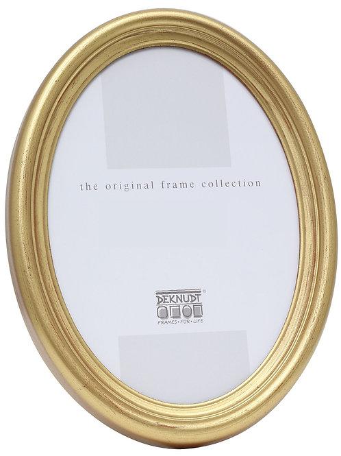 Ovalrahmen gold Kunststoff 10x15