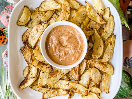 Crispy Cajun Potatoes w/ Chipotle Mayo