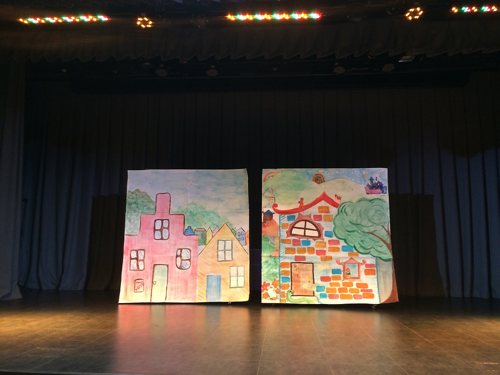 Colourful scenery created by the students