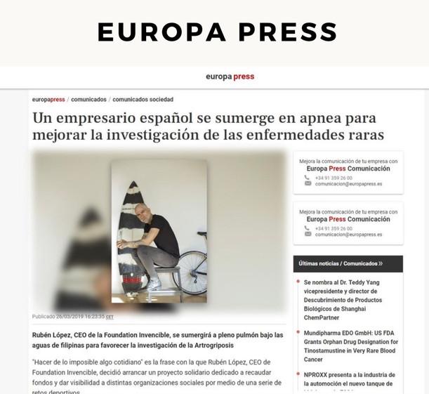 Cobertura de Retos Europa Press