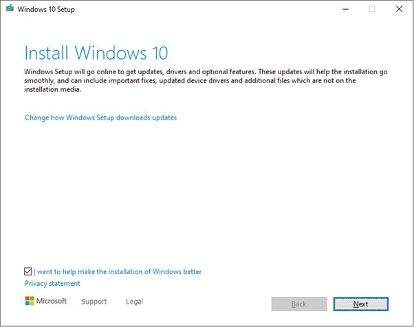 install windows 10 brisbane