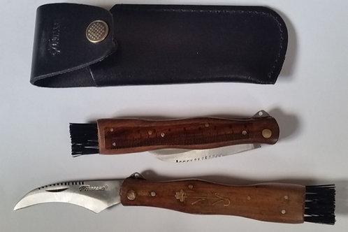 """Couteau à champignons """"Leopard"""" avec étui cuir"""