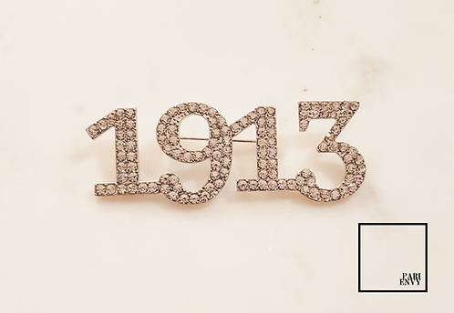 1913 Rhinestone Pin