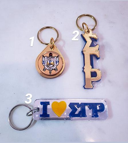 Sigma Gamma Rho Key Chain