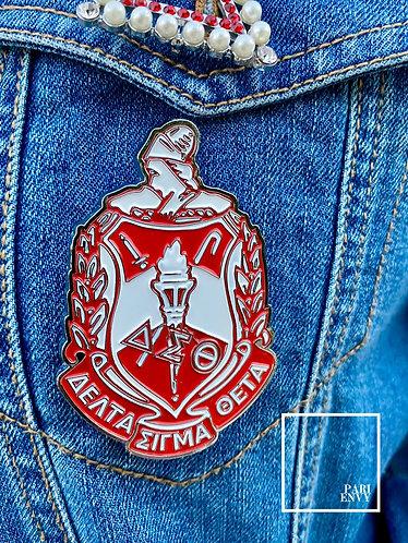 Delta Sigma Theta Metal Shield Pin