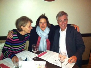 At dinner with friends, Michael and Kareemeh Binyon