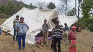 temporary housing for children after the earthquake