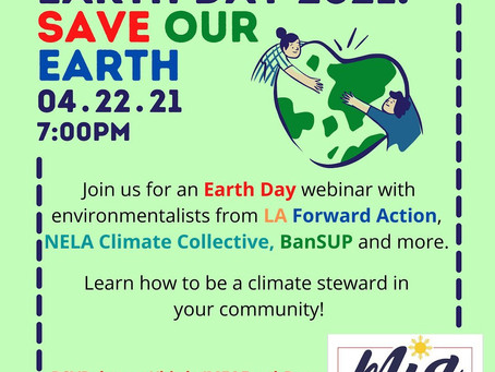 SAVE THE DATE: Earth Day 2021 Webinar with local environmentalists!