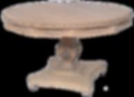 mesa redonda tallada tipo colonial $2.10